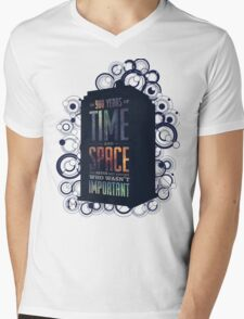 Doctor Who - Space and Time Mens V-Neck T-Shirt