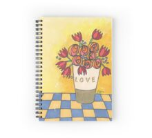 Tulips and more sending you love Spiral Notebook