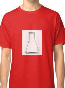 Black And White Chemistry Beaker Classic T-Shirt