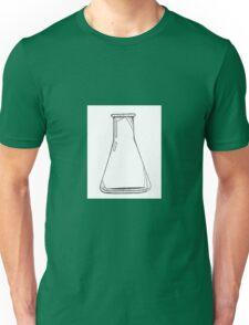 Black And White Chemistry Beaker Unisex T-Shirt
