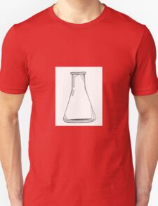 Black And White Chemistry Beaker Unisex T-Shirt