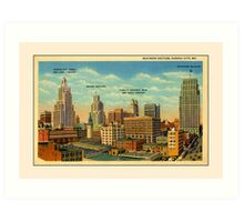 Vintage Business Section Kansas City MO Art Print