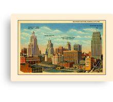 Vintage Business Section Kansas City MO Canvas Print