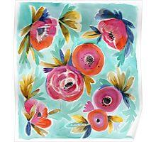 Celestial Rain Flower Poster