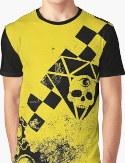 Black Leather Yellow Leather: 3 Invert Graphic T-Shirt