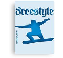 Freestyle snowboard Canvas Print