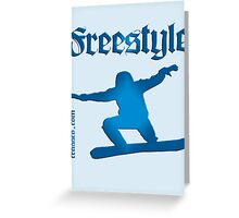 Freestyle snowboard Greeting Card
