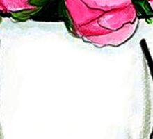 Flowers bag #fashion, #peonies Sticker