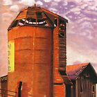 Sunset Silo by Laura Gabel