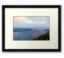 Kelowna Depth Framed Print