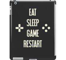 Eat Sleep Game Restart Video Gaming T Shirt  iPad Case/Skin