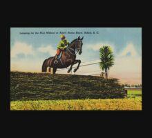 Vintage horse jumping, Aiken Horse Show, SC Kids Tee