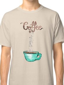 Cute Watercolor Steamy Cup of Coffee Classic T-Shirt