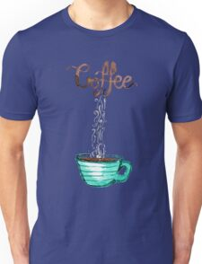 Cute Watercolor Steamy Cup of Coffee Unisex T-Shirt
