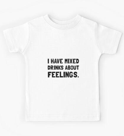 Mixed Drinks Feelings Kids Tee