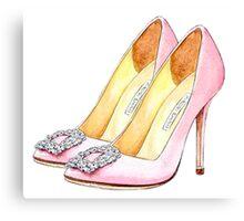 Heels #fashion #pink  Canvas Print