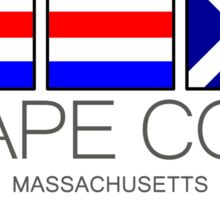 CAPE COD, Massachusetts Nautical Flag Art Sticker