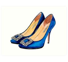 Blue Heels #fashion Art Print
