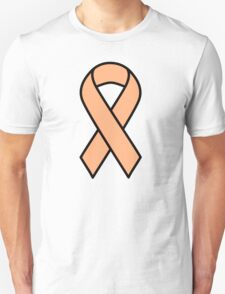 Peach Uterine Cancer Ribbon T-Shirt
