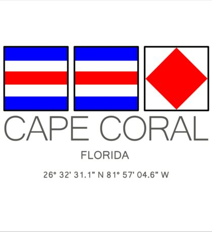 CAPE CORAL, Florida Nautical Flag Art Sticker