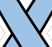 Light Blue Prostate Cancer Ribbon Sticker