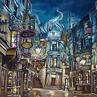 Diagon Alley  by WormholePaint