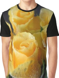 lively flora in yellow Graphic T-Shirt