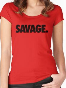 SAVAGE - (Black) Women's Fitted Scoop T-Shirt