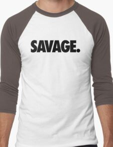 SAVAGE - (Black) Men's Baseball ¾ T-Shirt