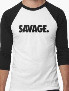 SAVAGE - (Black) Men's Baseball ¾ T-Shirt