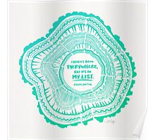 My List – Turquoise Ombré Poster