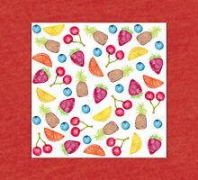 Juicy Watercolor Hand Painted Fruit Pattern Tri-blend T-Shirt