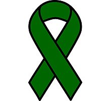 Emerald Green Liver Cancer Ribbon Photographic Print