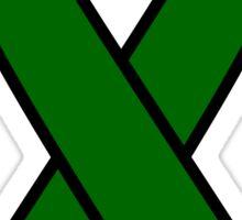 Emerald Green Liver Cancer Ribbon Sticker