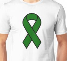 Emerald Green Liver Cancer Ribbon Unisex T-Shirt