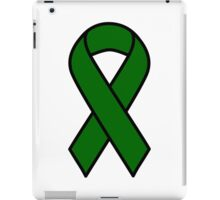 Emerald Green Liver Cancer Ribbon iPad Case/Skin