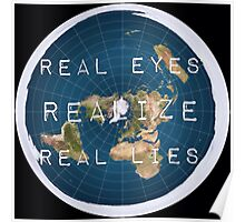 Flat earth flat is fact Poster