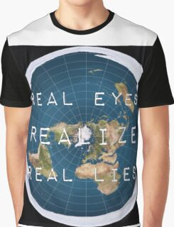 Flat earth flat is fact Graphic T-Shirt
