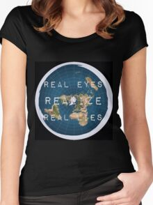 Flat earth flat is fact Women's Fitted Scoop T-Shirt
