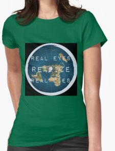 Flat earth flat is fact Womens Fitted T-Shirt