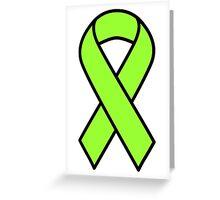 Lime Lymphoma Ribbon Greeting Card