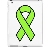 Lime Lymphoma Ribbon iPad Case/Skin