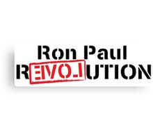 Ron Paul Revolution Love Logo Canvas Print