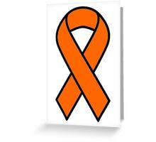 Orange Kidney Cancer and Leukemia Ribbon Greeting Card