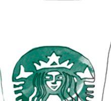 white mocha #frappuccino Sticker