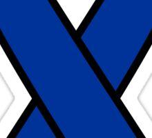 Blue Colon Cancer Ribbon Sticker
