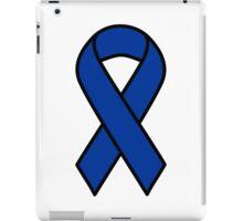 Blue Colon Cancer Ribbon iPad Case/Skin