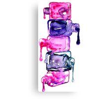 Nails polish { colours } #watercolor Canvas Print