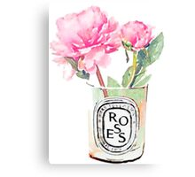 Peonies #candle Canvas Print