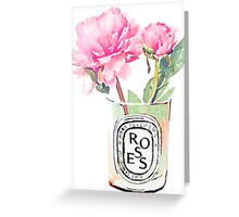 Peonies #candle Greeting Card